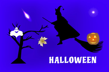 Vector illustration of characters and objects to have a party on Halloween