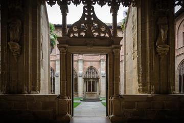 Claustro del Monasterio de Santa Maria la Verdadero de Najera, La Rioja