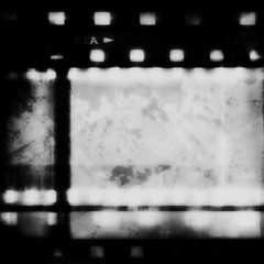 grunge film strip background and texture