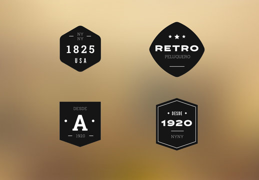 Kit de logotipos retro