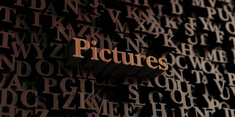 Pictures - Wooden 3D rendered letters/message.  Can be used for an online banner ad or a print postcard.