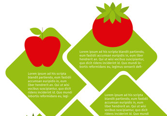 Diagonal Interlocking Tile Nutrition Infographic with Produce Icons