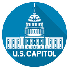 United States Capitol flat icon