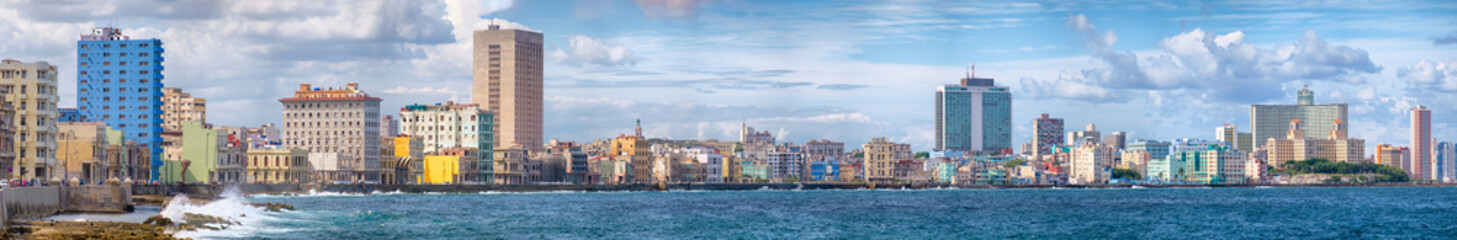 Poster Havana The Havana skyline and the famous seaside Malecon avenue