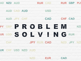 Finance concept: Problem Solving on wall background