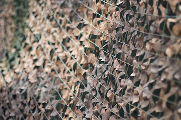 Camouflage net, Army camouflage pattern. Military camouflage net