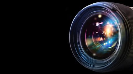 Professional camera lens Wall mural