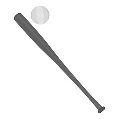 Baseball icon monochrome. Single sport icon from the big fitness, healthy, workout monochrome.