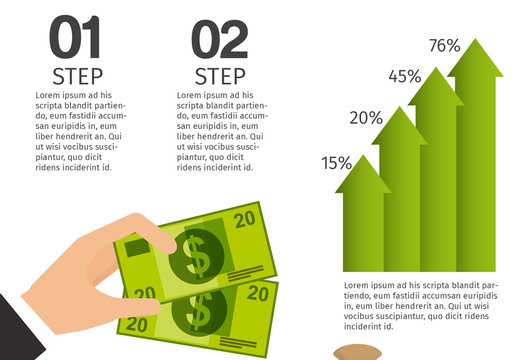 Cartoon Element Stock and Finance Infographic with Icons Included 1 - Currency