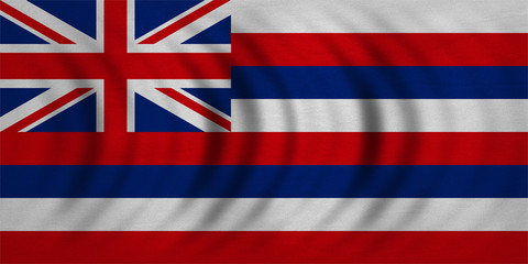 Flag of Hawaii wavy detailed fabric texture