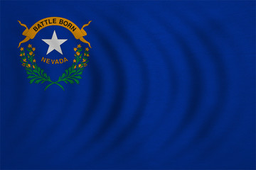 Flag of Nevada wavy detailed fabric texture
