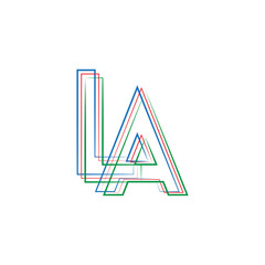 INITIAL ABSTRACT LOGO WITH COLOR