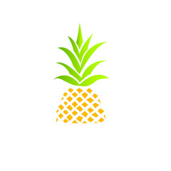 Pineapple Icon Vector