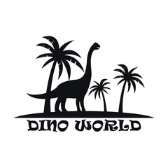 Dinosaurs logo template for your business
