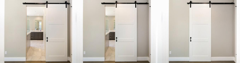 Barn Type sliding doors series hanging. Modern sliding door.