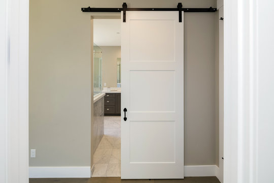 Barn Type Door sliding door hanging. Modern sliding door.