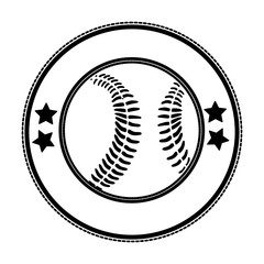 sober baseball emblem or label icon image vector illustration design