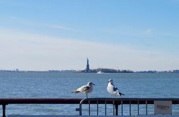 自由の女神 鳥