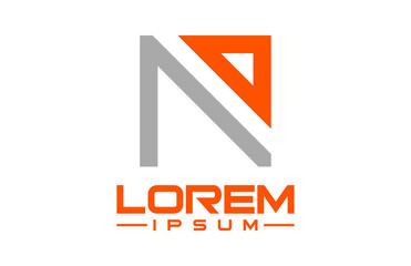 letter n line logo