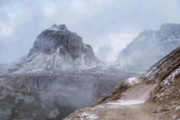 Dolomites mountain panorama Italy