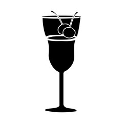 cocktail glass icon image vector illustration design