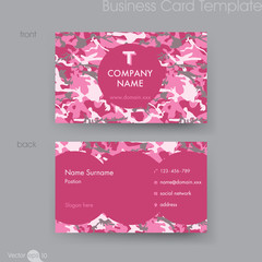 Camouflage Pattern Business Card Templatecommunication, camo, namecard