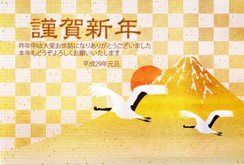 酉 富士山 年賀状 背景