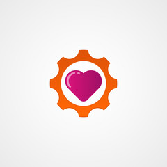 heart of engineering logo icon