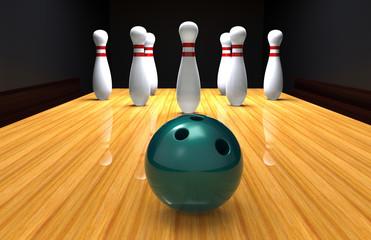 Bowling, Kegelbahn