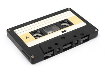retro cassette tapes isolated white background