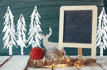 christmas decorations and white raindeer