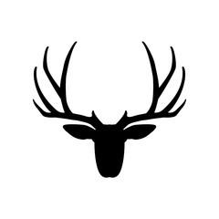 deer head vector illustration silhouette black
