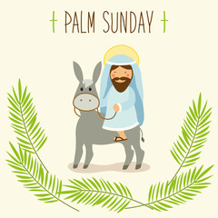 Palm Sunday banner as religious holidays background