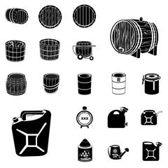 barrel and canister black set