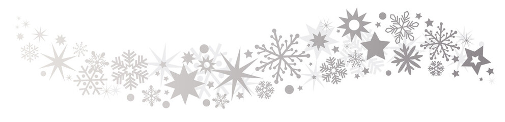 Weihnachtliche Dekoration silberner Sternenschweif
