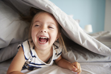 Laugh out loud small baby girl.