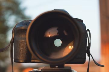 aperture on professional camera