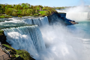 Niagara falls in the summertime