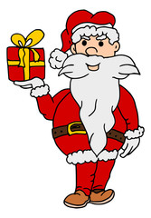 Kerstman met cadeau