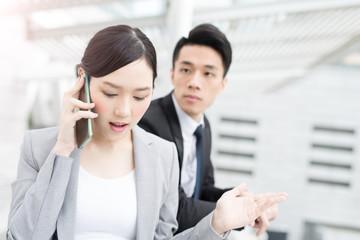 businesswoman talk on phone