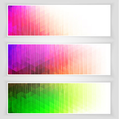 Abstract colorful banners collection - eps10