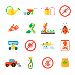 Pesticides Icons Set