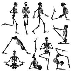 Black Human Skeletons Background