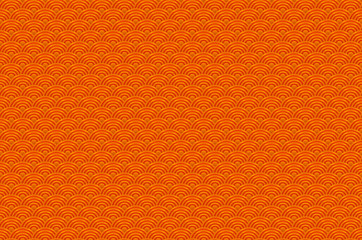 Chinese orange seamless pattern dragon fish scales simple seamless pattern Nature background with japanese wave circle pattern vector korean