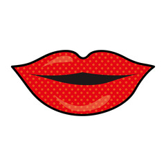 lips cartoon icon image vector illustration design