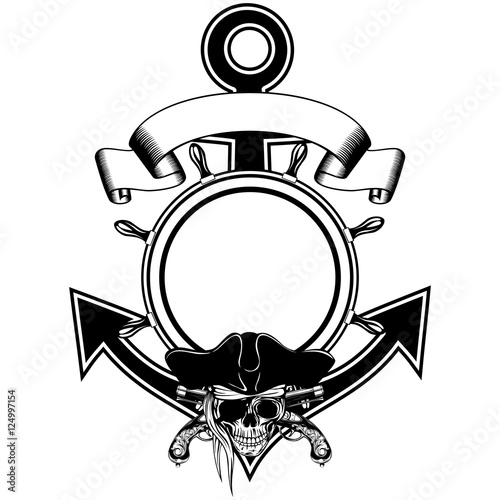 anchor steering wheel skull pistols stock image and royalty free Steampunk Pistol anchor steering wheel skull pistols