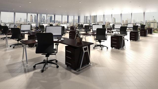 Großraumbüro Büro mit Aussicht