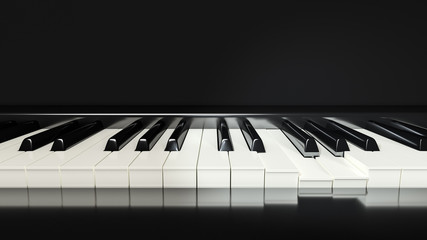 classic piano keys background