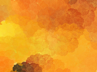 Fractal abstract autumn background