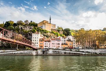 La Passerelle de l'Homme de Roche sur la Saône à Lyon
